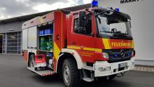 Das neue ELW-LF-K ist auf dem TLF-3000 verlastet. (c) T. Unger