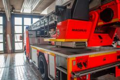 Drehleiter der Feuerwehr Aschaffenburg.
